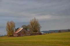 农舍,中间的Willamette谷,俄勒冈 免版税库存图片