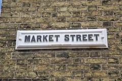 农贸市场标志;英国 库存图片