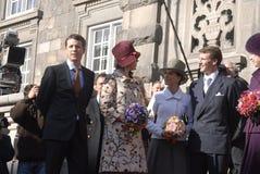 冠丹麦frederik ・玛丽王子公主 免版税库存图片