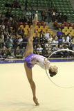 冠军体操意大利节奏性 免版税库存照片