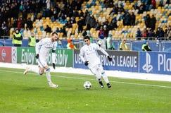 冠军同盟足球比赛发电机Kyiv -贝希克塔什, 12月 免版税库存图片