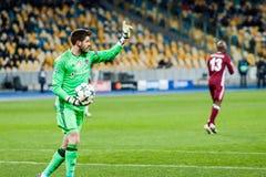 冠军同盟足球比赛发电机Kyiv -贝希克塔什, 12月 库存图片
