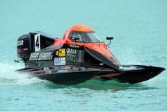 冠军欧洲f1000 powerboating的steudel 库存照片