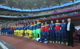 29 2011年冠军欧洲卢森堡前进合格罗马尼亚来回uefa与的neamt piatra 乔治亚-友好的比赛 免版税库存照片