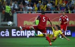 29 2011年冠军欧洲卢森堡前进合格罗马尼亚来回uefa与的neamt piatra 乔治亚-友好的比赛 图库摄影