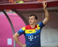 29 2011年冠军欧洲卢森堡前进合格罗马尼亚来回uefa与的neamt piatra 乔治亚-友好的比赛 库存照片