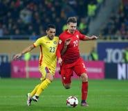 29 2011年冠军欧洲卢森堡前进合格罗马尼亚来回uefa与的neamt piatra 波兰-欧洲合格者世界杯2018年 免版税库存照片