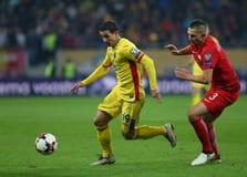 29 2011年冠军欧洲卢森堡前进合格罗马尼亚来回uefa与的neamt piatra 波兰-欧洲合格者世界杯2018年 免版税库存图片