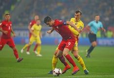 29 2011年冠军欧洲卢森堡前进合格罗马尼亚来回uefa与的neamt piatra 波兰-欧洲合格者世界杯2018年 库存图片