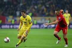 29 2011年冠军欧洲卢森堡前进合格罗马尼亚来回uefa与的neamt piatra 波兰-欧洲合格者世界杯2018年 图库摄影
