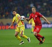 29 2011年冠军欧洲卢森堡前进合格罗马尼亚来回uefa与的neamt piatra 波兰-欧洲合格者世界杯2018年 库存照片
