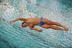 冠军潜水的室内意大利语 库存照片