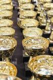 冠军的很多奖杯 免版税库存图片