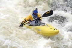 冠军科罗拉多小河陡峭的vail 免版税图库摄影