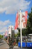 冠军胡同在比利・简・金国家网球中心 免版税库存图片