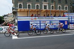 冠军自行车道 免版税库存照片