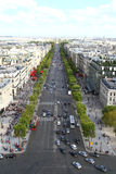 冠军Elysee,巴黎 库存图片