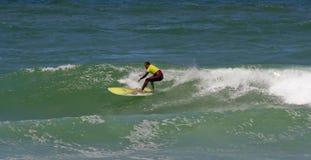 冠军longboard nuno葡萄牙桑托斯 免版税库存照片