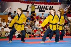 冠军poomsae第六跆拳道世界wtf 库存照片
