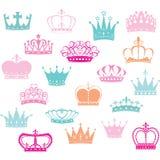 冠剪影, Crown公主 免版税库存图片