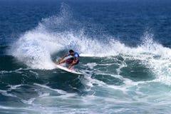 冠加西亚・夏威夷晴朗的冲浪的三倍 库存照片