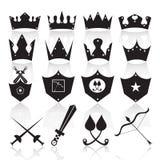 冠和武器象传染媒介 库存图片