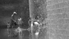 冠喷泉在千禧公园 免版税库存图片