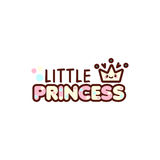 冠的传染媒介例证和小公主发短信与时髦的kawaii emoji 传染媒介样式女孩礼物意思号 免版税库存照片