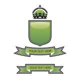 冠绿色盾 免版税图库摄影