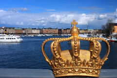 冠金黄皇家斯德哥尔摩瑞典 库存图片