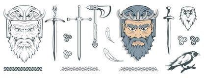 冥府-死者的地狱的古希腊神 希腊神话 地狱和掠夺剑  奥林山神 免版税库存照片