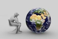 冥想世界问题 免版税库存照片