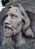 冥想天空的基督的面孔 图库摄影