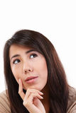 冥想女性年轻人 库存图片