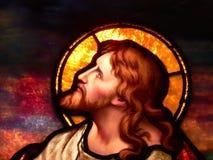冥想耶稣 库存图片