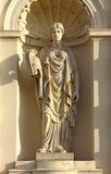 冥想雕塑华沙 免版税库存照片