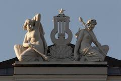 冥想雕塑 免版税库存照片