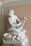 冥想Erato经典雕塑  库存图片