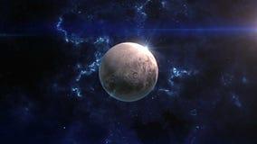 冥王星在空间显露 影视素材