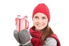 冬天、假日和礼物 免版税图库摄影