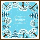 冬天与被传统化的摘要的背景设计 免版税库存图片