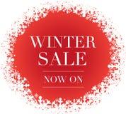 冬天与雪花的销售横幅 皇族释放例证