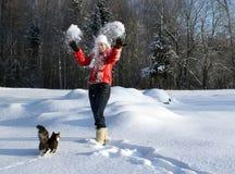 冬天乐趣 库存图片