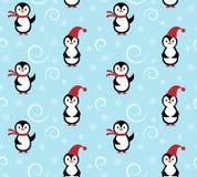 冬天企鹅样式 免版税库存照片