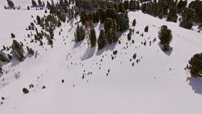 冬天全景图空中4k 影视素材