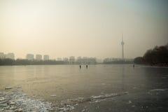 冬天公园北京 免版税库存图片
