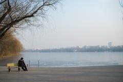 冬天公园北京 免版税图库摄影