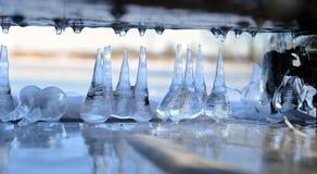 冬天冰创作 库存图片