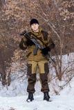 俄国战士 免版税库存照片