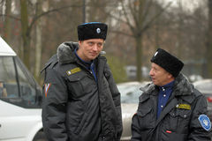 冬天制服的哥萨克人 免版税库存图片